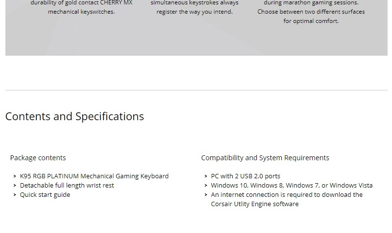 Details about Corsair K95 RGB PLATINUM Mechanical Gaming Keyboard Cherry MX  Speed Switch USB