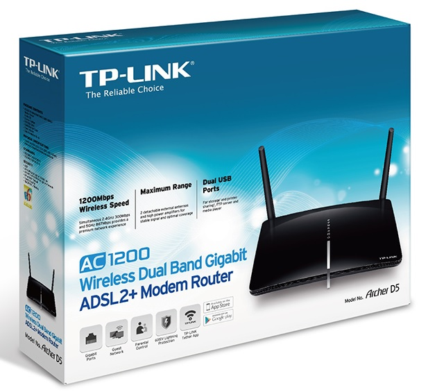 Networking :: Modems :: TP-Link Archer D5 Dual Band AC 1200Mbps ...